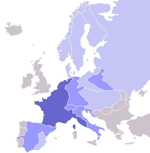Continental System - Countries forced by France into applying the Continental System.