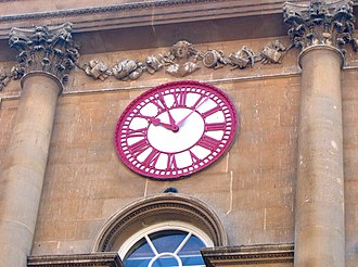 """The Exchange, Bristol - The clock on the Exchange showing the extra hand for """"Bristol Time"""""""