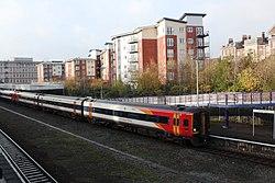 Exeter Central - SWR 159018+159019 leaving for London.JPG