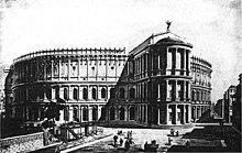 Rekonstruktion des Theaters des Pompeius, in dem Caesar erdolcht wurde (Quelle: Wikimedia)