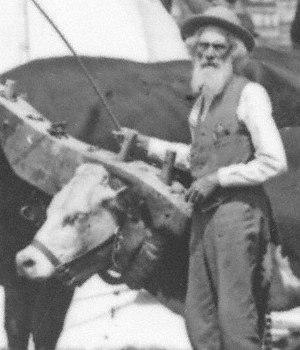 Huntsville, Ohio - Ezra Meeker in Kearney, Nebraska, ca. 1906