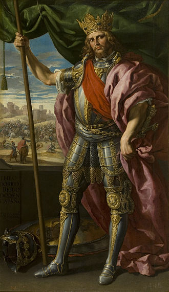 Theodoric I - Imagined portrayal of Theodoric, King of the Goths, by Félix Costello, 1635.