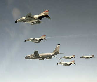 170th Group - F-4Ds refueling from a group KC-135E in 1985
