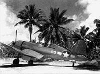 F4U-1 Lt Rinaberger VMA-214 at Espiritu Santo 1943.jpg