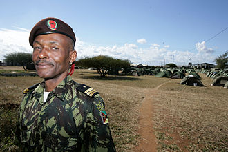 Mozambique Defence Armed Forces - A Mozambique army officer during Exercise SHARED ACCORD 2010 with the United States