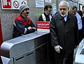 FM Zarif departures to his office by Metro 01.jpg