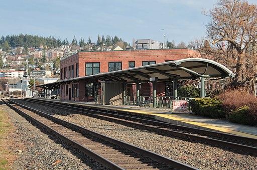 Fairhaven Station - platform view
