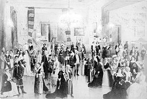 Patrick Leonard MacDougall - Fancy-dress Ball given by Gen. Sir Patrick L. MacDougall, KCMG, at Maplewood, Northwest Arm, Halifax, Nova Scotia, Canada