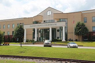 Fannin County, Georgia - Image: Fannin County, Georgia Courthouse