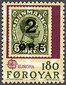 Faroe stamp 038 europe (provisional stamp 1919, overprint).jpg
