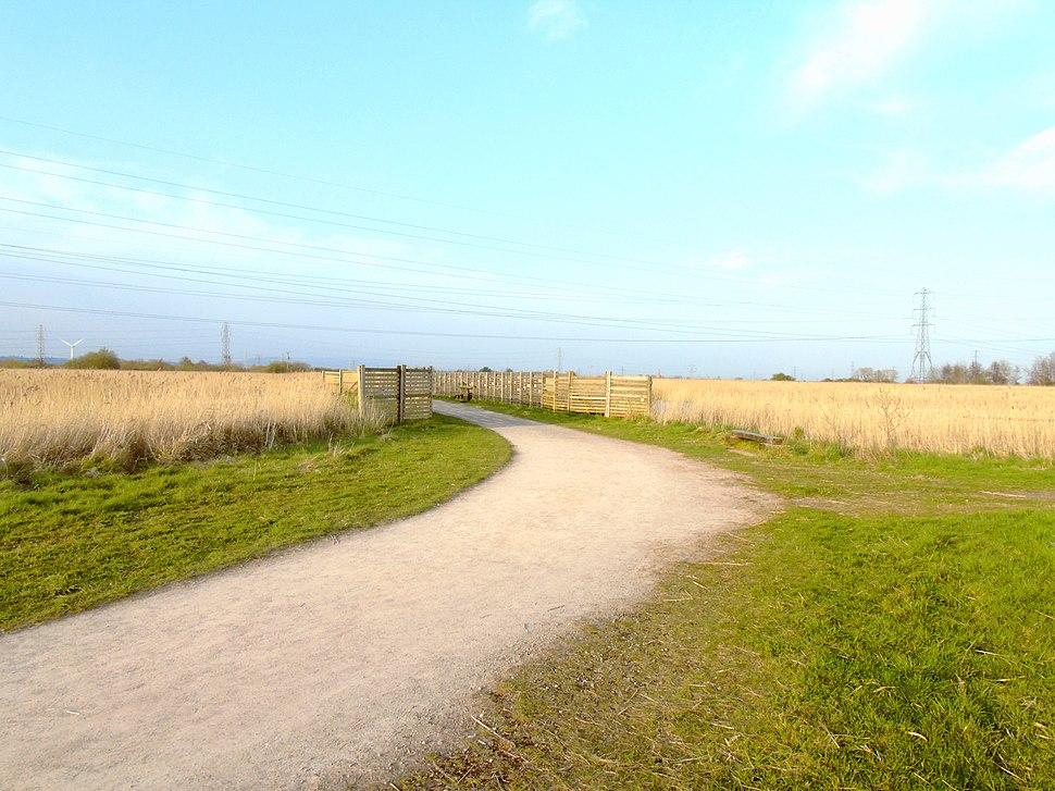 Fences Around Newport Wetlands RSPB Reserve Fenced Pond