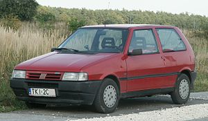 Land transport - A Fiat Uno in 2008