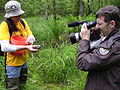 Filming the release of captively raised bog turtles in Georgia, 2005.jpg