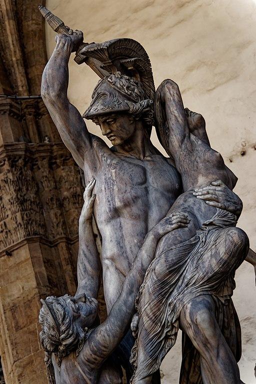 Pio Fedi, Neottolemo rapisce Polissena da Ecuba, 1855 - 1865, Piazza della Signoria, Loggia dei Lanzi