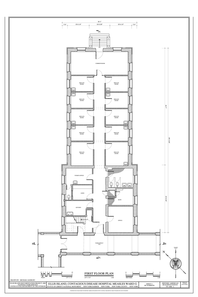 File First Floor Plan Ellis Island Contagious Disease