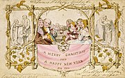 The world's first Christmas card, made by John Callcott Horsley