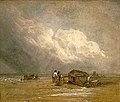 Fishermen on a Beach with Boats by Robert Ladbrooke.jpg