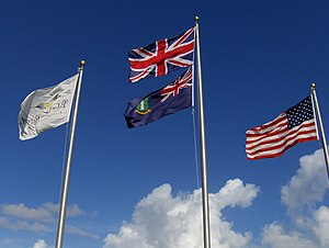 Oh, Beautiful Virgin Islands - Image: Flags on Peter Island