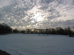 Flagstaff Hill, Pennsylvania - View from the bottom of Flagstaff Hill in winter