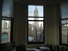 A View From The Inside Of Point Office As An Icon New York City Flatiron Building
