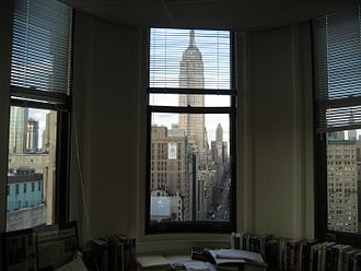 "Flatiron Building - A view from the inside of a ""point"" office"