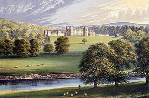 Floors Castle - Floors Castle in 1880, viewed across the Tweed