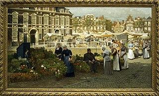 marché aux fleurs à La Haye