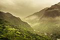 Flumes snaking up the mountainside in Jinguashi, Thirteen Levels (14853565180).jpg