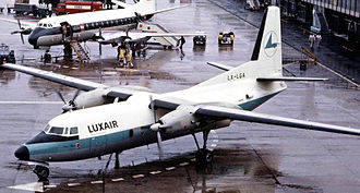 Luxair - Luxair's first aircraft was this Fokker F27 Friendship, pictured here in 1966.