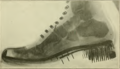 Foot care and shoe fitting-Fig37 US marine corps shoe 1920 and Resco shoe-fitting device.png