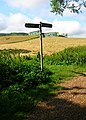 Footpath Junction near Upper Hyde - geograph.org.uk - 508199.jpg