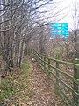 Footpath along M2 Motorway - geograph.org.uk - 1097211.jpg