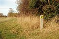 Footpath marker on the path to Cubbington - geograph.org.uk - 1573913.jpg