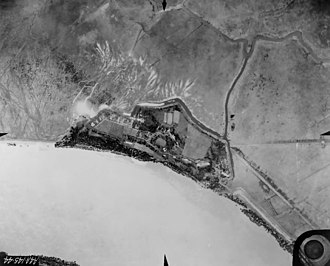 Battle of Forts Jackson and St. Philip - Fort St. Philip from the air in 1935