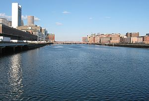 Fort Point Channel - Fort Point Channel, as seen from the south end looking north.