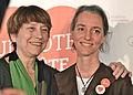 Françoise David et Eveline Gueppe 2014-03-09.jpg
