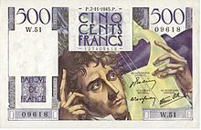 500 francs Chateaubriand, Face recto