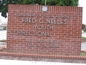 Fred C. Nelles Youth Correctional Facility - Image: Fred C. Nelles sign at entrance