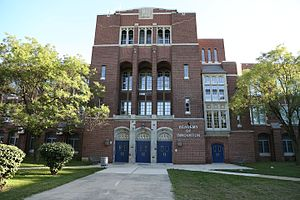 National Register of Historic Places listings in West and Southwest Baltimore - Image: Frederick Douglas High School Front