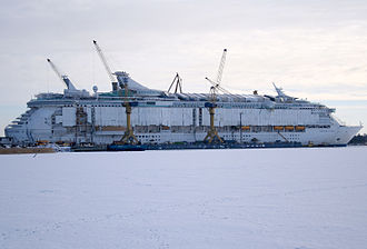 STX Finland - MS Freedom of the Seas under construction at Aker Yards in Turku in 2006