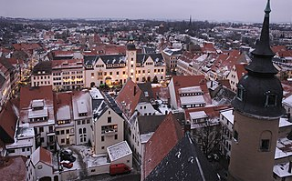 Freiberg Place in Saxony, Germany