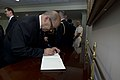 French Minister of Defense Jean-Yves Le Drian signs the guest book at the Pentagon.jpg