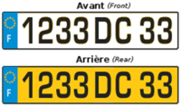 French registration plates (until 2008)
