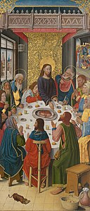 French School - Panels from the High Altar of the Charterhouse of Saint-Honoré, Thuison-les-Abbeville, The Last Supper - 1933.1056 - Art Institute of Chicago.jpg