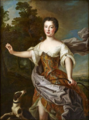 French School - Portrait of a woman as Diana.png