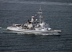 French frigate Jean Bart (D615) in April 2014.JPG