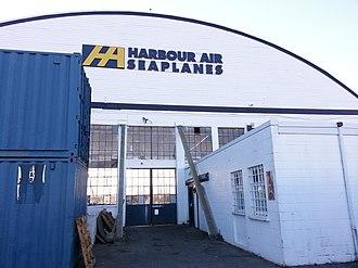 Harbour Air Seaplanes - Harbour Air hangar at the Vancouver International Airport
