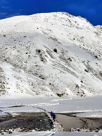Gokyo - Frozen Gokyo Third Lake and Gokyo Ri