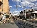 Fukuhoku Yutaka Line on west side of Orio Station 2.jpg