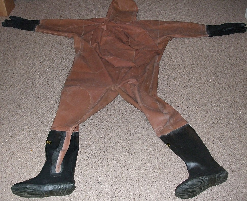Full-Body Chest-Entry Wader with Boots Gloves and Hood